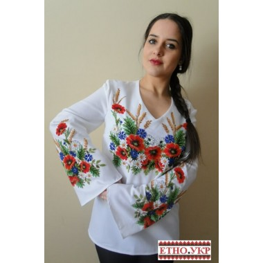 """Заготовка жіночої блузки під вишивку """"Щедрі дари ланів"""""""