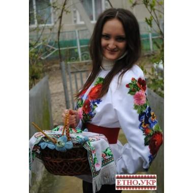 """Заготовка жіночої блузки під вишивку """"Квіткове плетіння"""""""