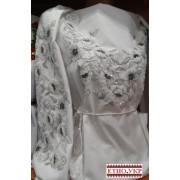 """Заготовка жіночої блузки під вишивку """"Чорно-білі маки"""""""