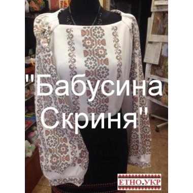 """Заготовка жіночої блузки під вишивку """"Пишний квітковий орнамент"""""""