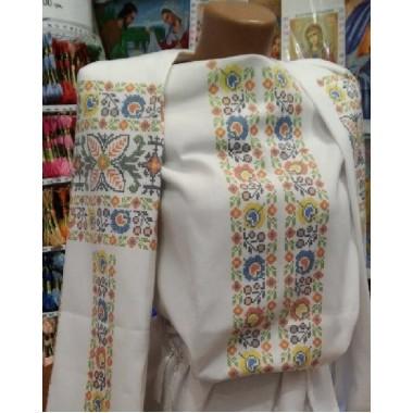 """Заготовка жіночої блузки під вишивку """"Яскравий квітковий орнамент"""""""