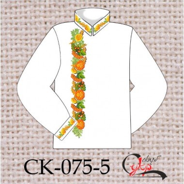 """Заготовка чоловічої сорочки під вишивку """"Народні символи"""" (варіант 2)"""