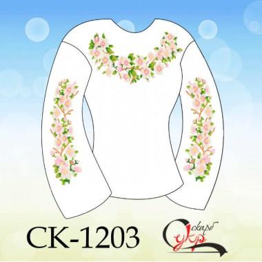 """Заготовка дитячої блузки під вишивку """"Цвіт сакури"""""""