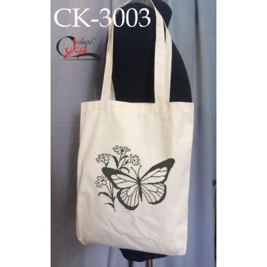"""Еко-сумка під вишивку """"Монохромний метелик"""""""