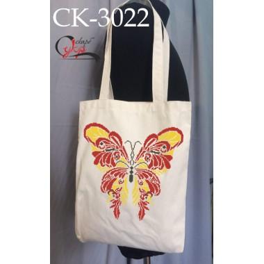 """Еко-сумка під вишивку """"Червоно-жовтий метелик"""""""