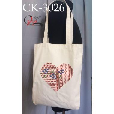"""Еко-сумка під вишивку """"Ажурне серце"""""""