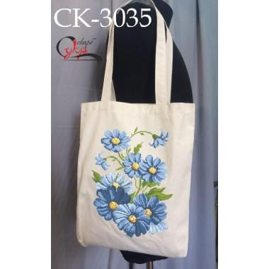 """Еко-сумка під вишивку """"Сині квіти"""""""