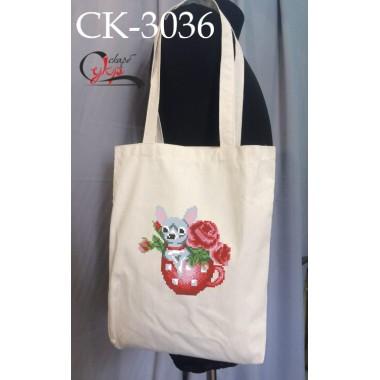 """Еко-сумка під вишивку """"Песик з квітами"""""""