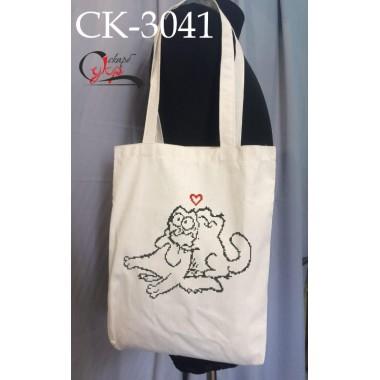 """Еко-сумка під вишивку """"Кіт Саймона"""" (закоханий)"""