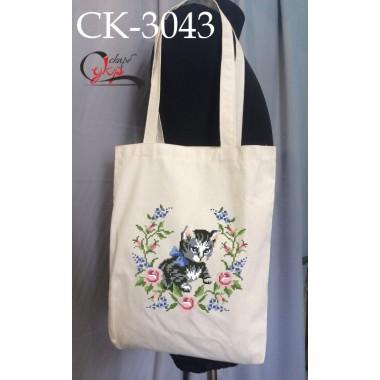 """Еко-сумка під вишивку """"Маленьке кошеня"""""""