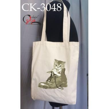 """Еко-сумка під вишивку """"Котик в черевику"""""""