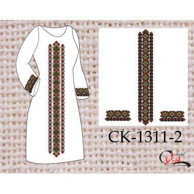 """Заготовка плаття під вишивку """"Весняний орнамент"""" (варіант 2)"""