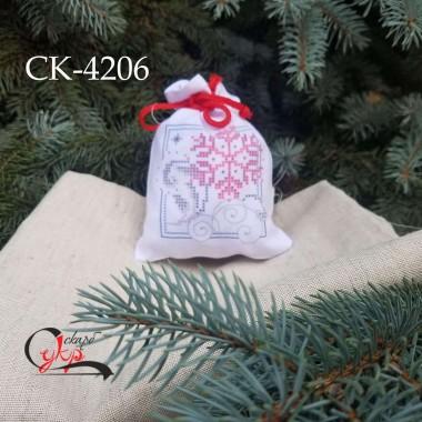 """Подарункова торбинка під вишивку """"Казкові сніжинки"""""""