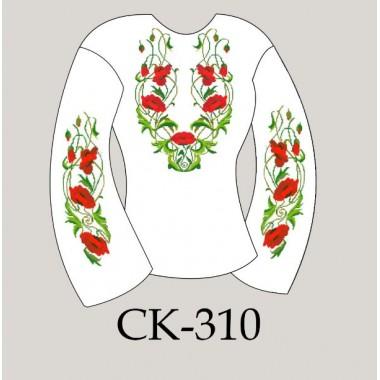 """Заготовка жіночої блузки під вишивку """"Плетючі маки"""""""