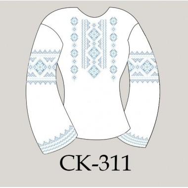 """Заготовка жіночої блузки під вишивку - орнамент """"Восьмикутна зірка"""" (блакитний)"""