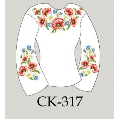 """Заготовка жіночої блузки під вишивку """"Польові квіти"""""""