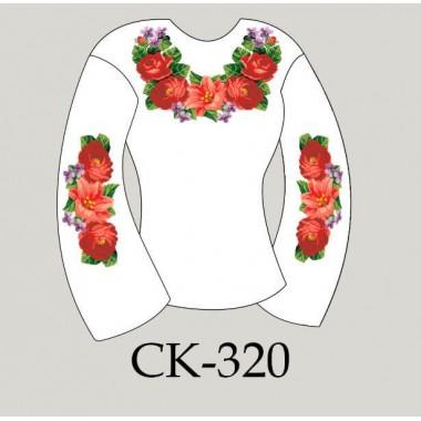 """Заготовка жіночої блузки під вишивку """"Пишні квіти"""""""