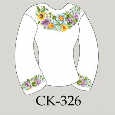 """Заготовка жіночої блузки під вишивку """"Літні квіти"""""""