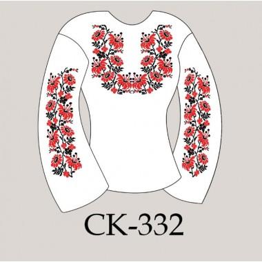"""Заготовка жіночої блузки під вишивку """"Квіткове плеттіння"""""""