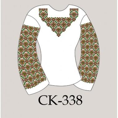 """Заготовка жіночої блузки під вишивку """"Пишний геометричний орнамент"""""""