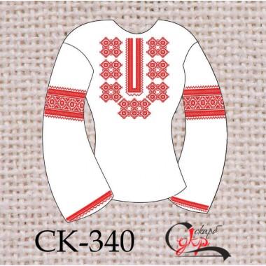 """Заготовка жіночої блузки під вишивку """"Барвінковий орнамент"""" (червоний)"""