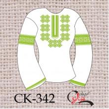 """Заготовка жіночої блузки під вишивку """"Барвінковий орнамент"""" (зелений)"""